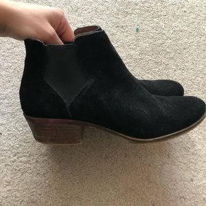 Lucky black suede ankle booties